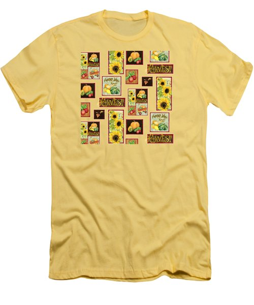 Harvest Market Pumpkins Sunflowers N Red Wagon Men's T-Shirt (Athletic Fit)