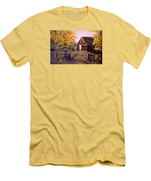 Harvest Time Men's T-Shirt (Slim Fit) by Alan Lakin