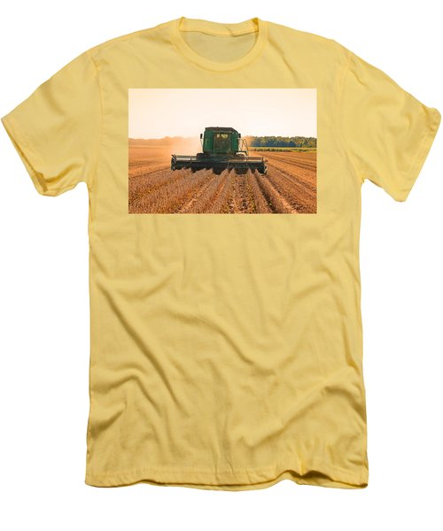 Harvesting Soybeans Men's T-Shirt (Slim Fit) by Ronald Olivier