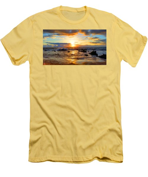 Hawaiian Paradise Men's T-Shirt (Slim Fit) by Michael Rucker