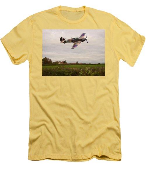 Hawker Hurricane -1 Men's T-Shirt (Slim Fit) by Paul Gulliver