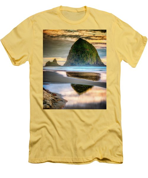 Haystack At Sunset Men's T-Shirt (Athletic Fit)