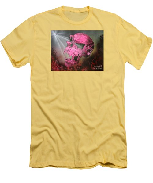 Men's T-Shirt (Slim Fit) featuring the painting Hell by Tbone Oliver
