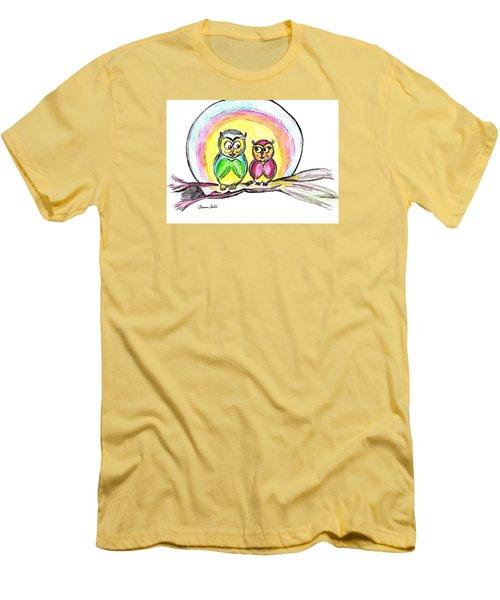 Hello Moonlight  Men's T-Shirt (Slim Fit) by Ramona Matei