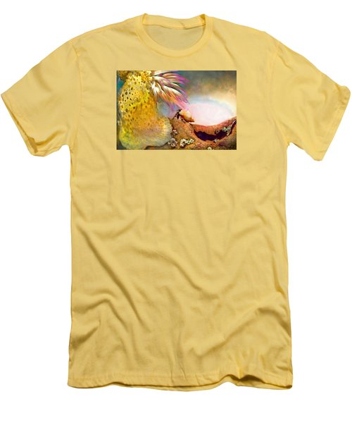 Men's T-Shirt (Slim Fit) featuring the photograph Hermit Crab Landscape by Adria Trail
