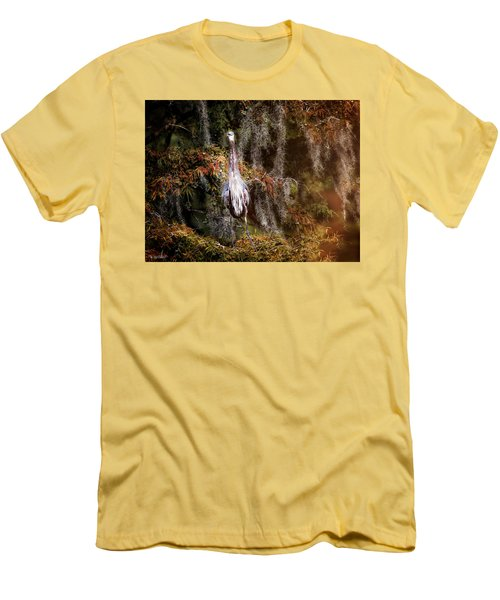 Heron Camouflage Men's T-Shirt (Slim Fit) by Phil Mancuso