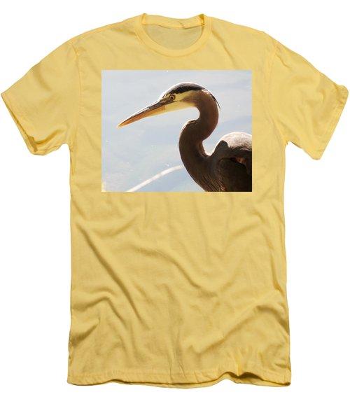 Heron Headshot Men's T-Shirt (Slim Fit) by Karen Molenaar Terrell