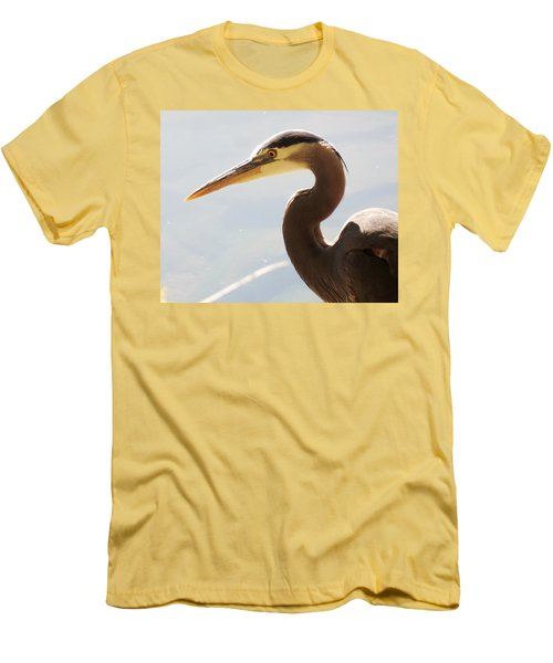 Heron Headshot Men's T-Shirt (Athletic Fit)