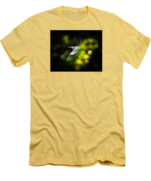 Heron Launch Men's T-Shirt (Slim Fit) by Jim Proctor