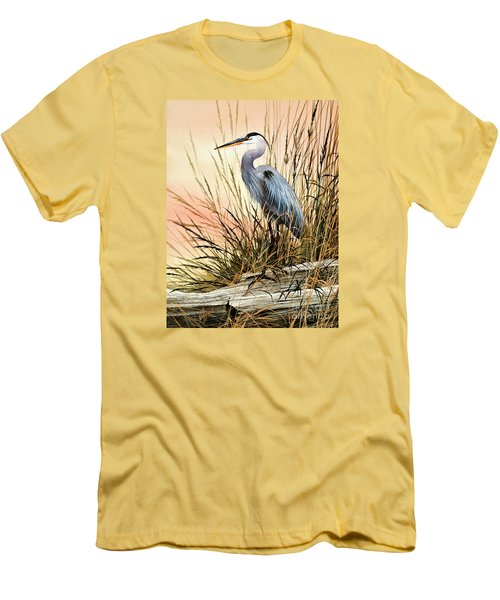 Heron Sunset Men's T-Shirt (Slim Fit) by James Williamson