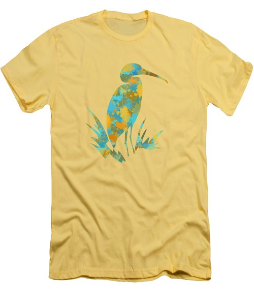 Heron Watercolor Art Men's T-Shirt (Athletic Fit)