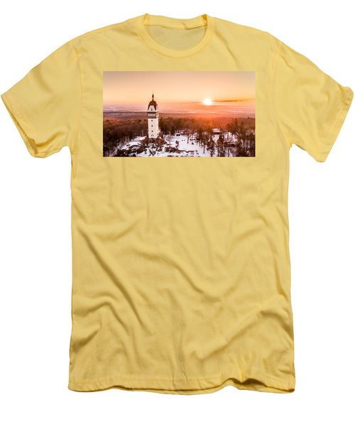 Men's T-Shirt (Slim Fit) featuring the photograph Heublein Tower In Simsbury Connecticut by Petr Hejl