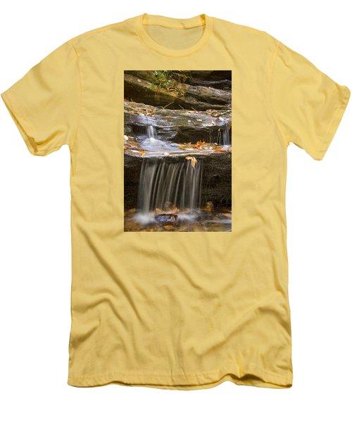 Men's T-Shirt (Slim Fit) featuring the photograph Hidden Falls Detail by Bob Decker
