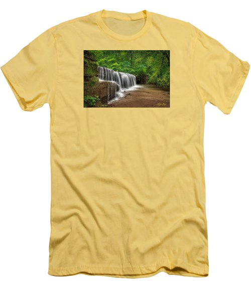Hidden Falls  Men's T-Shirt (Slim Fit) by Rikk Flohr