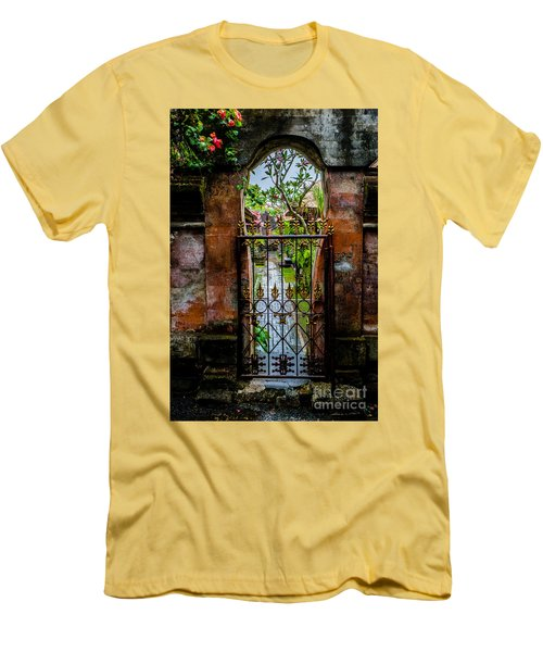 Bali Gate Men's T-Shirt (Slim Fit) by M G Whittingham