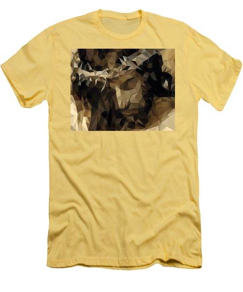 Men's T-Shirt (Slim Fit) featuring the digital art Hidden With Christ by Karen Showell