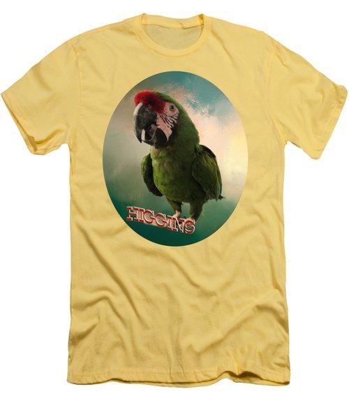 Higgins Men's T-Shirt (Slim Fit) by Zazu's House Parrot Sanctuary