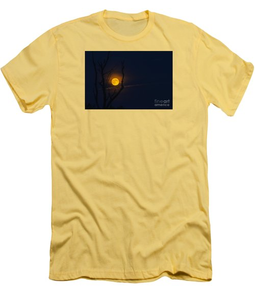 Highland Moon  Men's T-Shirt (Slim Fit) by Thomas R Fletcher