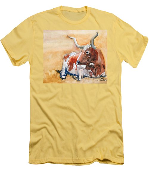 Men's T-Shirt (Slim Fit) featuring the painting His Majesty by Ron Stephens