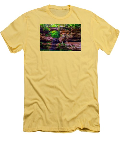 Men's T-Shirt (Slim Fit) featuring the photograph Hocking Hills State Park 5 by Brian Stevens