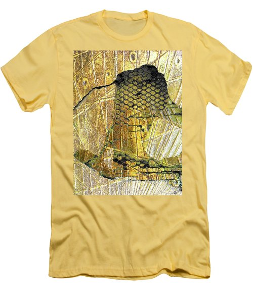 Men's T-Shirt (Slim Fit) featuring the mixed media Hole In The Wall by Tony Rubino