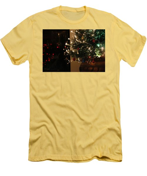 Holiday Attire Men's T-Shirt (Slim Fit) by Yvonne Wright