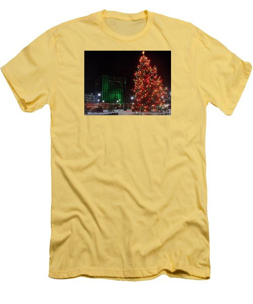 Men's T-Shirt (Slim Fit) featuring the photograph Holidays Downtown by Christina Verdgeline