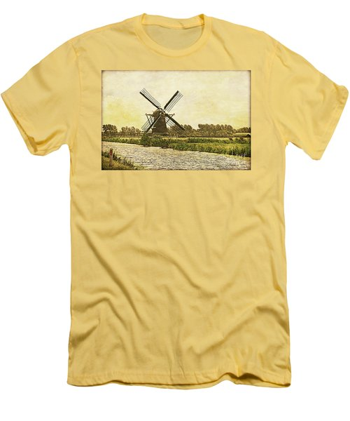 Holland - Windmill Men's T-Shirt (Athletic Fit)