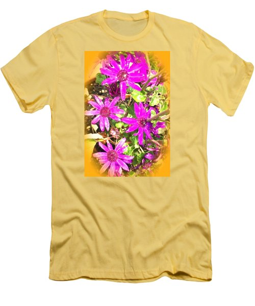 Hollywood Flower Stars Men's T-Shirt (Athletic Fit)