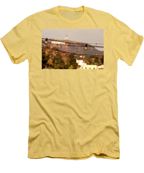 Men's T-Shirt (Slim Fit) featuring the photograph Hollywood Sign On The Hill 5 by Micah May
