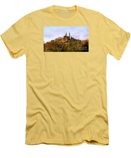 Holy Hill Basilica, National Shrine Of Mary Men's T-Shirt (Slim Fit) by Ricky L Jones