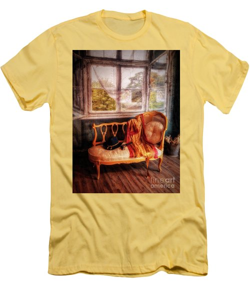 Home  At Last ... Men's T-Shirt (Slim Fit) by Chuck Caramella
