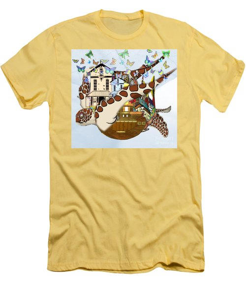 Home Within Home Men's T-Shirt (Slim Fit) by Belinda Threeths