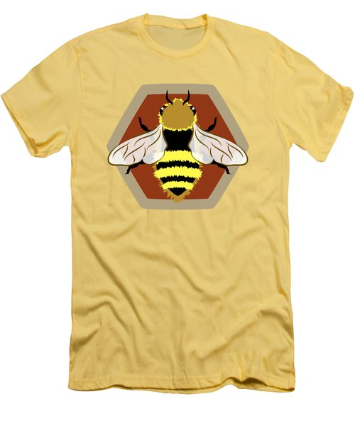 Honey Bee Graphic Men's T-Shirt (Slim Fit) by MM Anderson