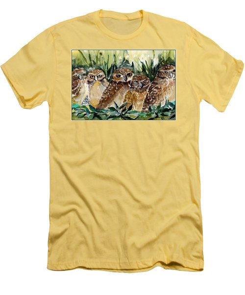 Hoo Is Looking At Me? Men's T-Shirt (Slim Fit) by Mindy Newman