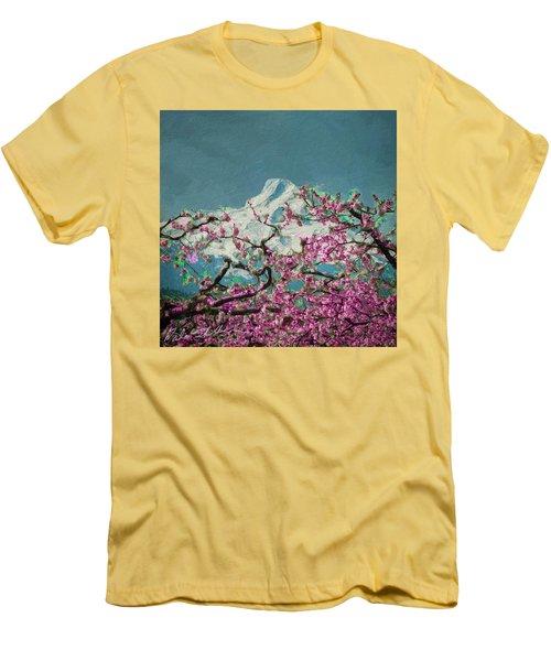 Hood Blossoms Men's T-Shirt (Athletic Fit)