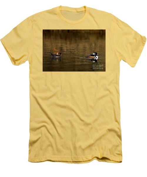 Hooded Mergansers Men's T-Shirt (Athletic Fit)