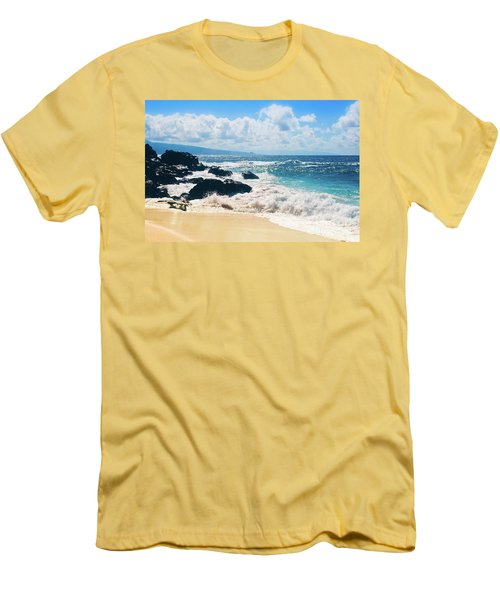 Hookipa Beach Maui Hawaii Men's T-Shirt (Slim Fit) by Sharon Mau