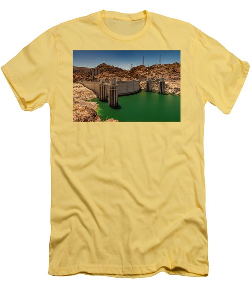 Hoover Dam Men's T-Shirt (Slim Fit) by Ed Clark
