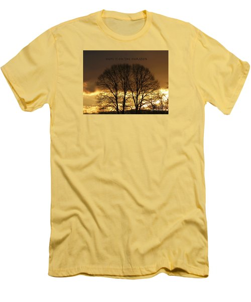 Hope Is On The Horizon Men's T-Shirt (Slim Fit) by Dee Flouton