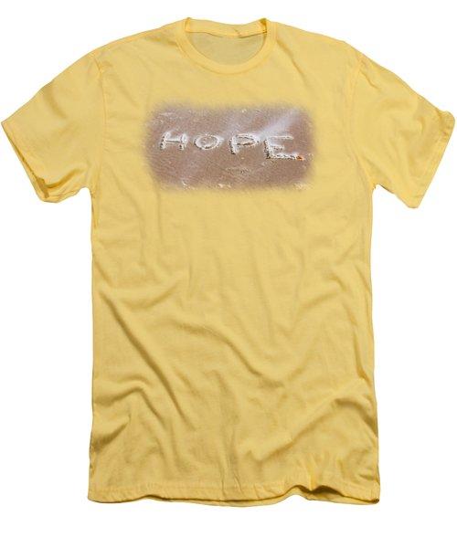 Hope Men's T-Shirt (Slim Fit) by John M Bailey