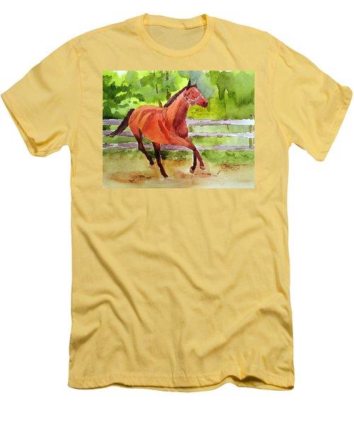 Horse #3 Men's T-Shirt (Slim Fit) by Larry Hamilton