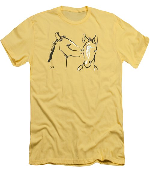 Horse-foals-together 6 Men's T-Shirt (Athletic Fit)