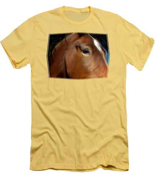 Horse Portrait Close Up Men's T-Shirt (Athletic Fit)