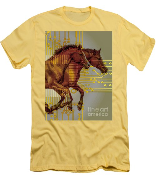 The Sound Of The Horses. Men's T-Shirt (Slim Fit) by Moustafa Al Hatter