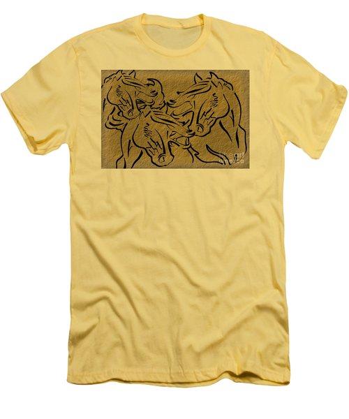 Horses Three Men's T-Shirt (Athletic Fit)