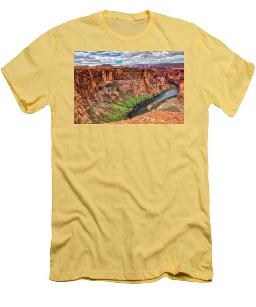 Men's T-Shirt (Slim Fit) featuring the photograph Horseshoe Bend Arizona - Colorado River #5 by Jennifer Rondinelli Reilly - Fine Art Photography