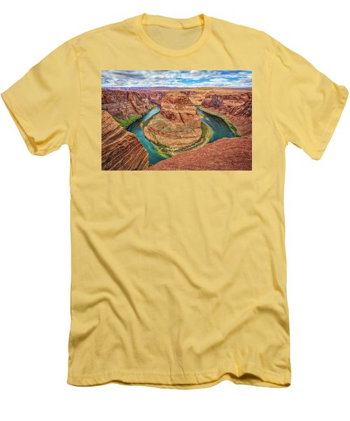 Men's T-Shirt (Slim Fit) featuring the photograph Horseshoe Bend - Colorado River - Arizona by Jennifer Rondinelli Reilly - Fine Art Photography