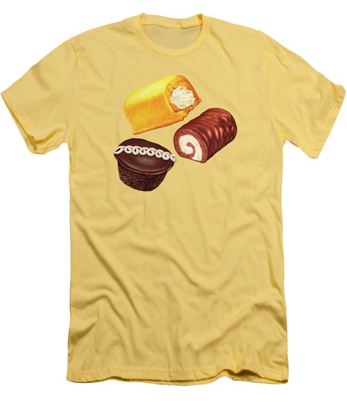 Hostess Cakes Pattern Men's T-Shirt (Athletic Fit)