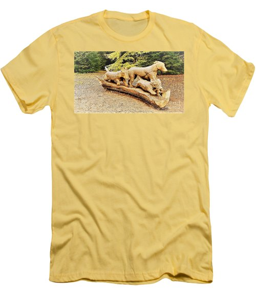 Hounds On The Run Men's T-Shirt (Slim Fit) by John Williams